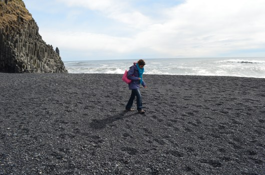south coast excursion black lava sand