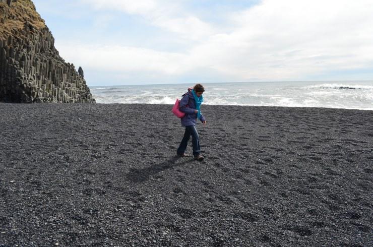 south coast excursion black lava sand