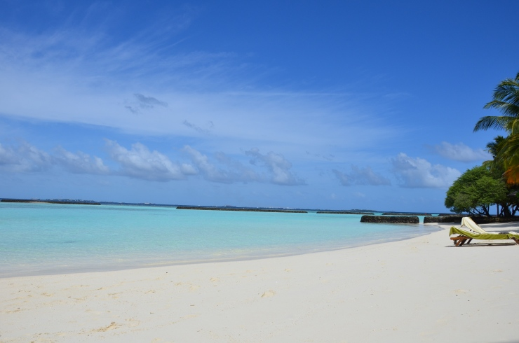 white sand beach Maldives