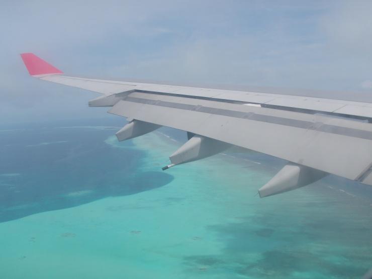 flight over Maldives
