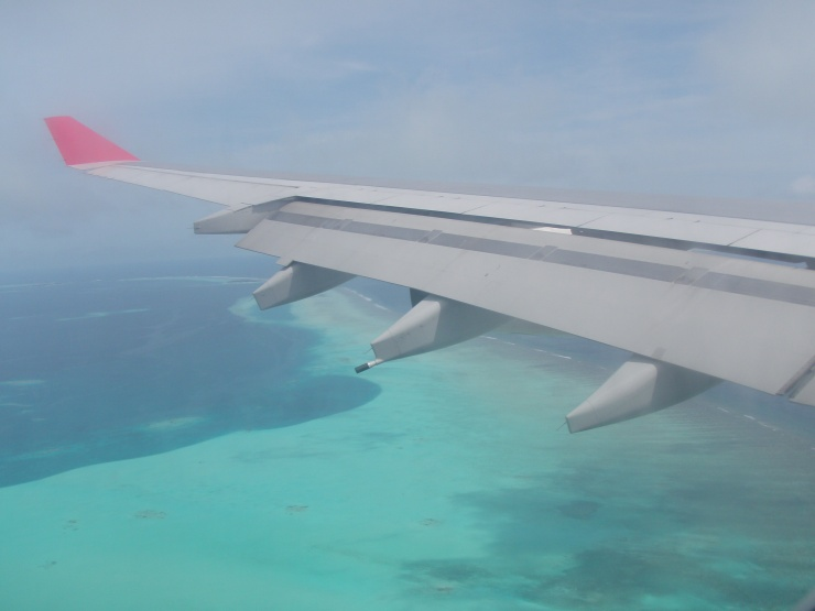 plane view Maldives