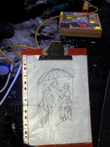 ice sculpture sketch