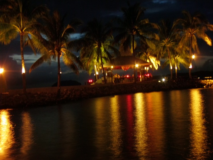 Borneo resort night time