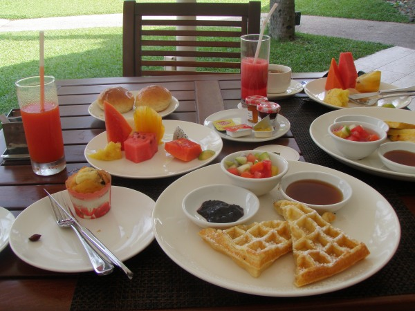 breakfast Shangri La Tanjung Aru
