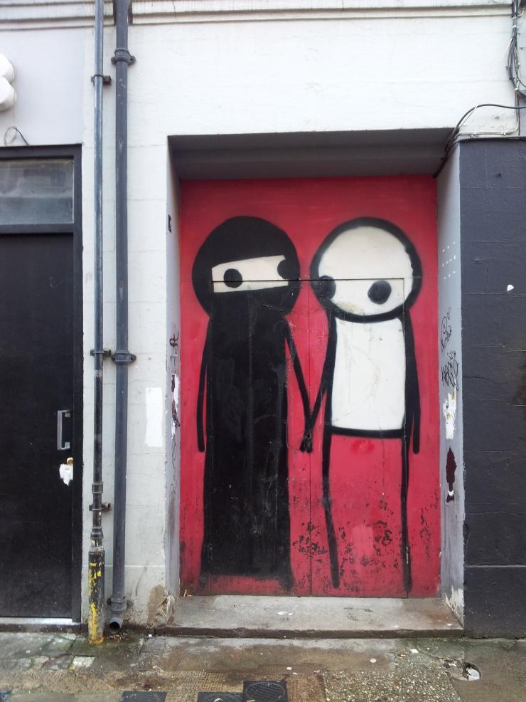 street art against racism East London