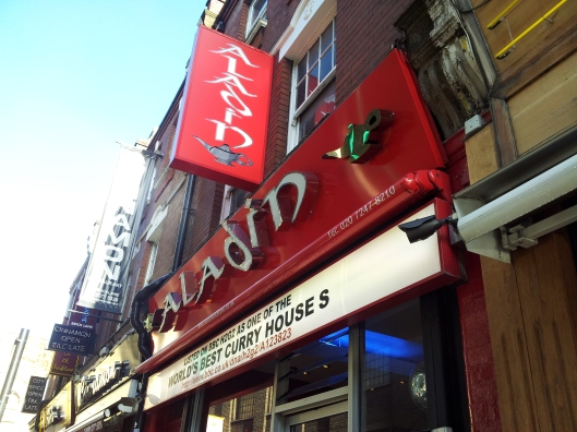 Aladin curry house Brick Lane