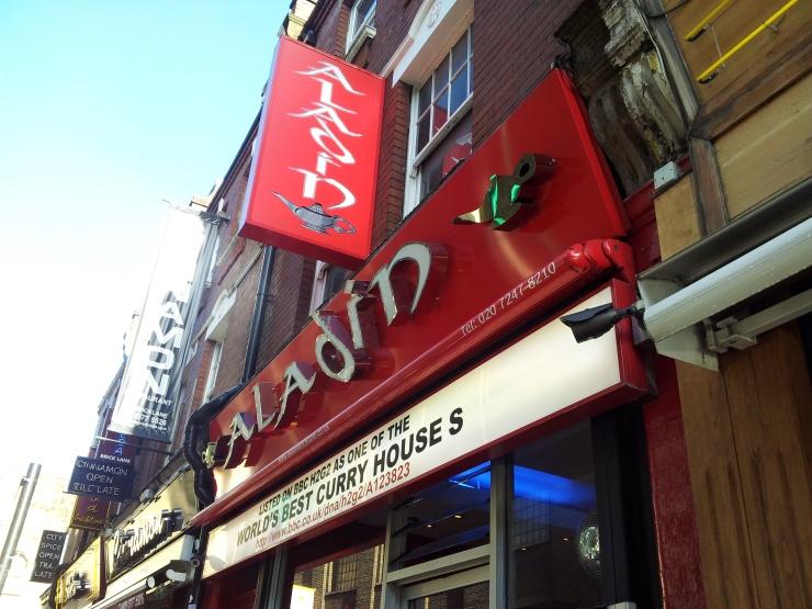 Aladin curry house Brick Lane
