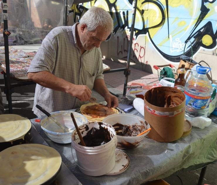 crepe stall San Telmo Market