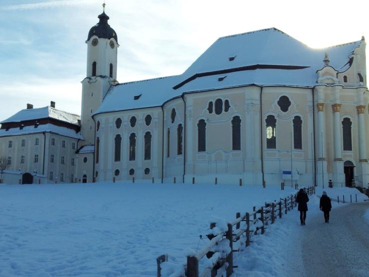 Bavarian village snow