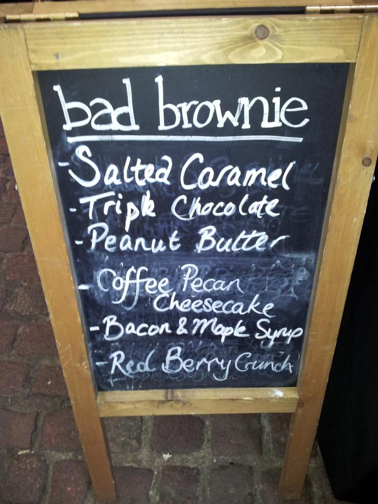 Bad Brownie flavours
