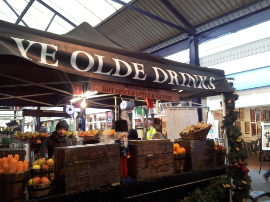 spiced apple drink stall Greenwich market
