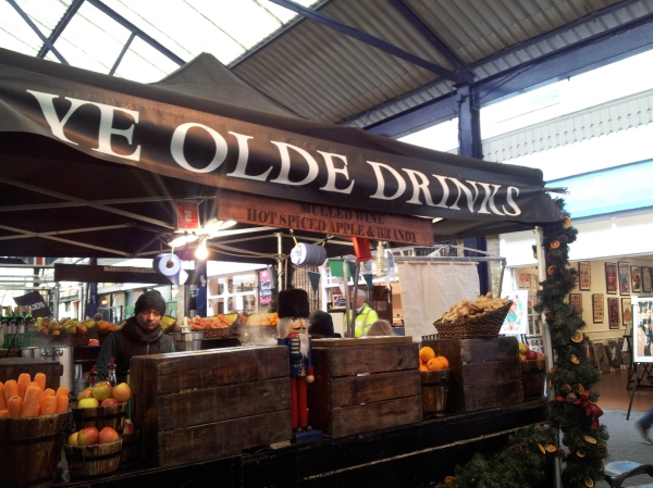 spiced apple drink stall Greenwich market