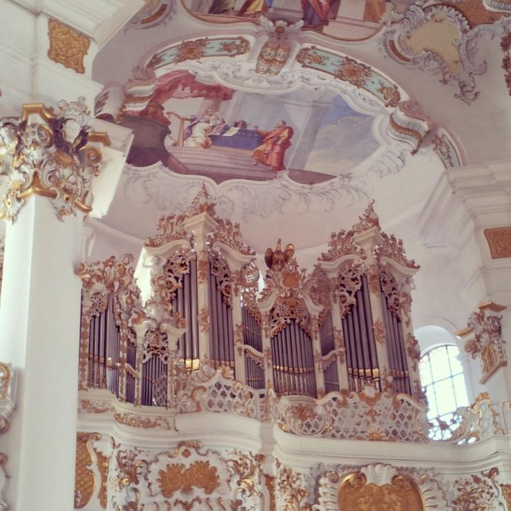 church organ Bavaria Weis Church Unesco