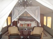 Selous luxury safari camp bedroom