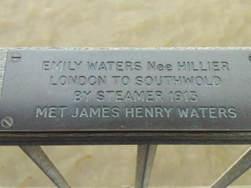 southwold pier plaque