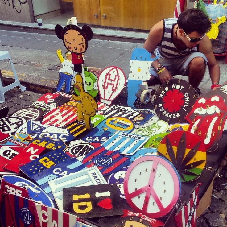 T shirts San Telmo market