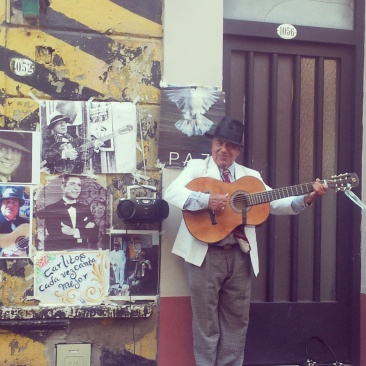 San Telmo Market street music performance