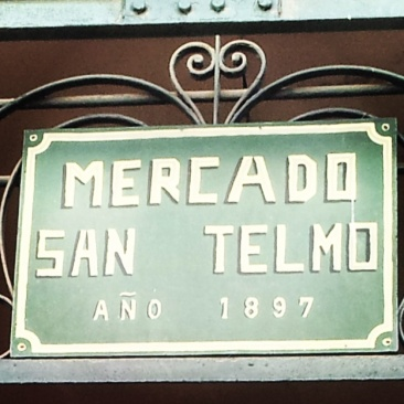 San Telmo Market Sign