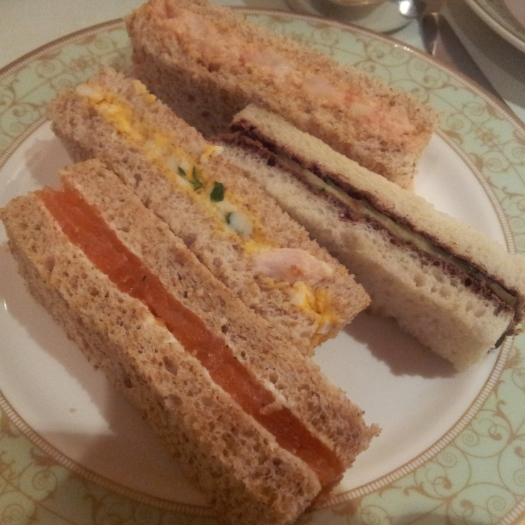 Grosvenor House afternoon tea sandwiches