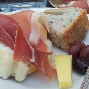 Prosciutto ham cheese Karst Slovenia