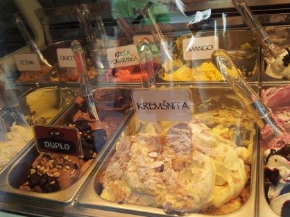 Ljubljana gelato Kremsnita flavour