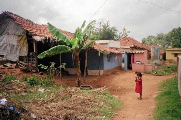 rural India village