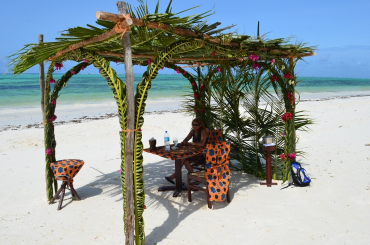 romantic beach lunch Brrezes resort Zanzibar