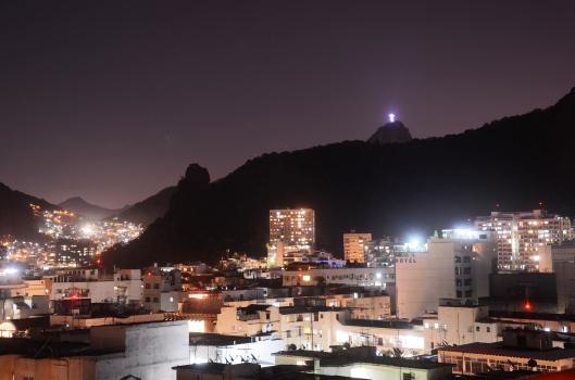 night time view Rio de Janeiro