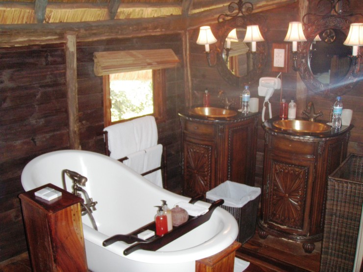 bathroom ensuite Selous luxury safari lodge