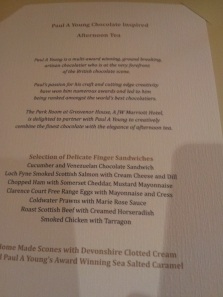 chocolate afternoon tea menu paul young