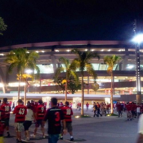 Maracana stadium Rio entrance Flamengo supporter