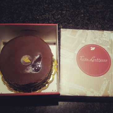 takeaway box Torta Ljubljana cake