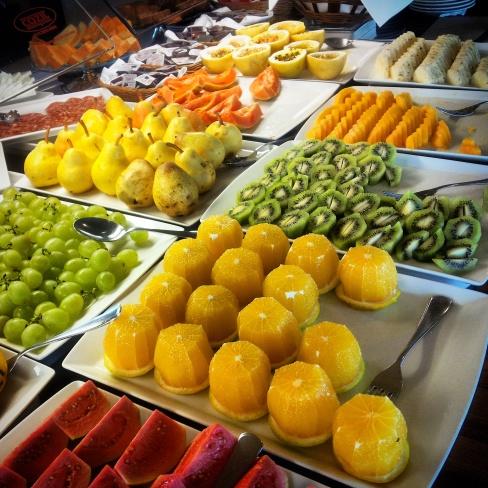 fruit buffet breakfast Porto Bay Rio