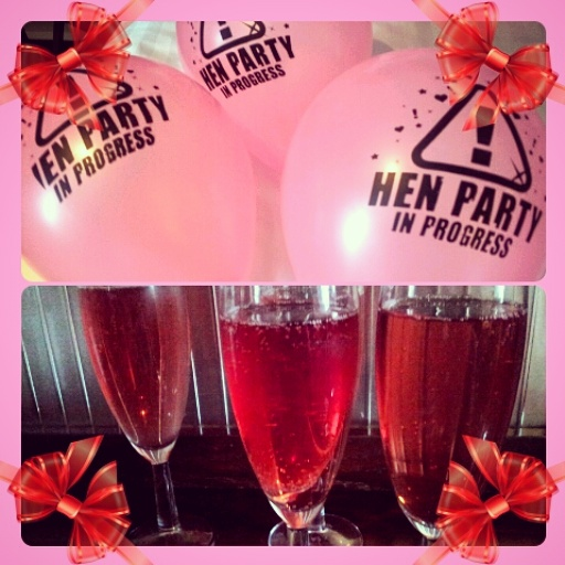 hen party balloons pink fizz