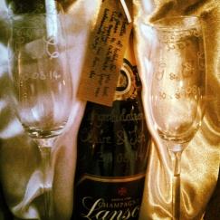 engraved wedding champagne glasses