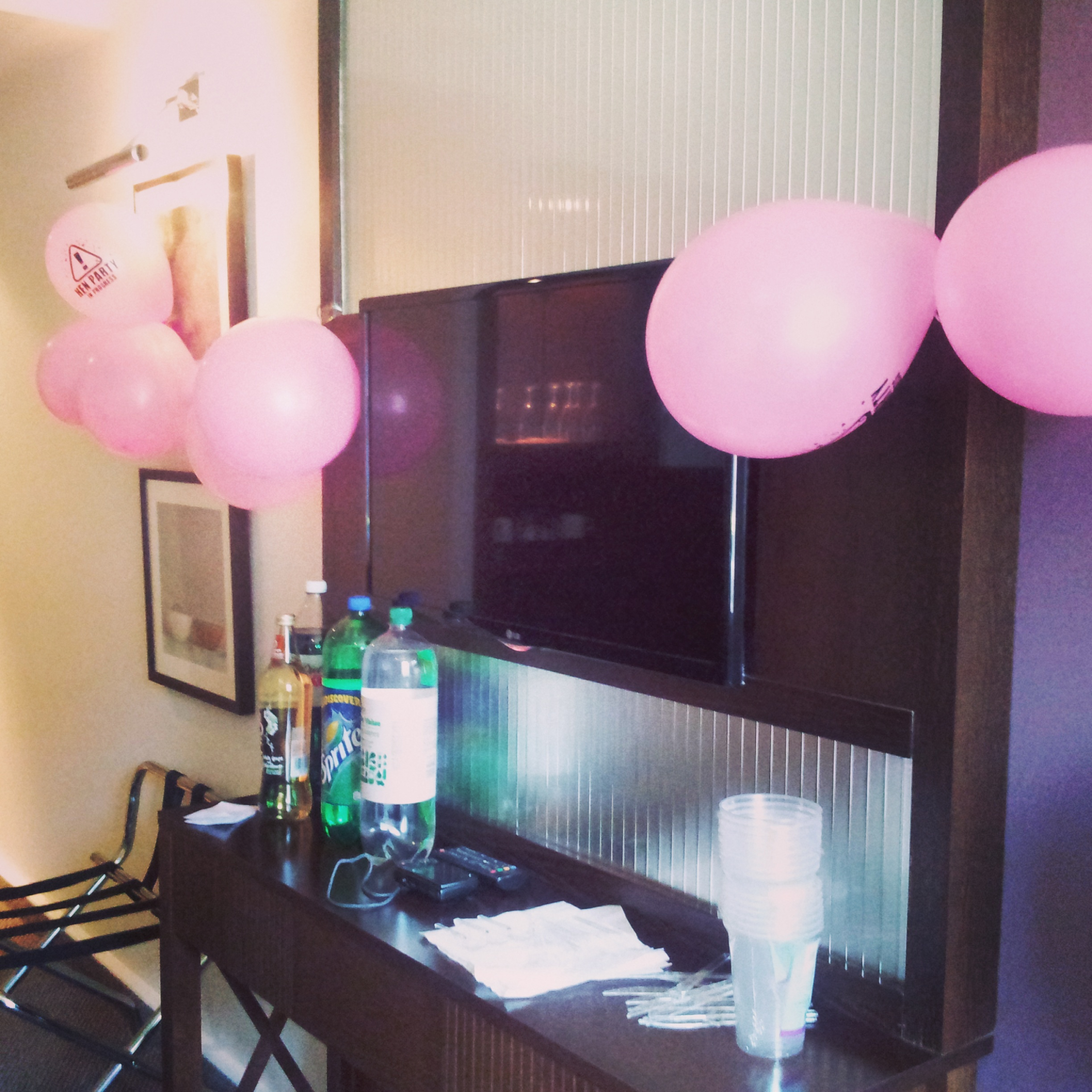 hen do hotel room decoration balloon | why waste annual leave?