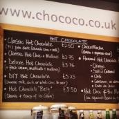 chococo menu winchester