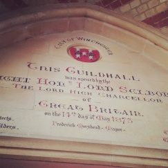 winchester guildhall sign