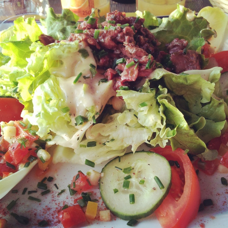 duck gizzard salad France