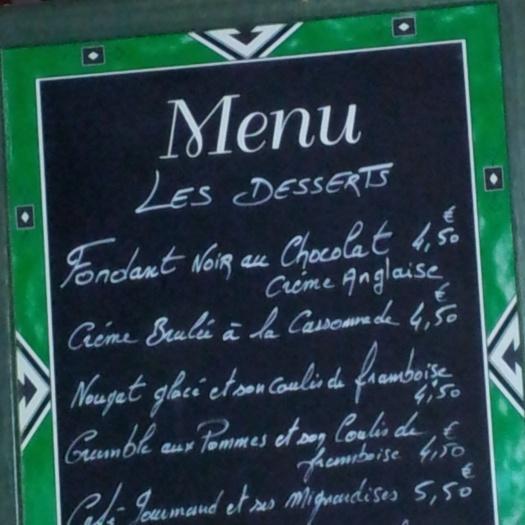 La Pailotte restaurant La Creuse menu