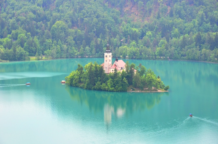 Lake Bled view turquoise
