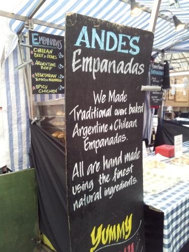 Andes Argentine Empanada stall Greenwich market
