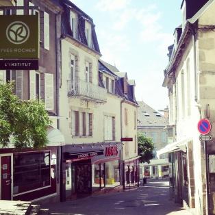 cobbled narrow streets Gueret France