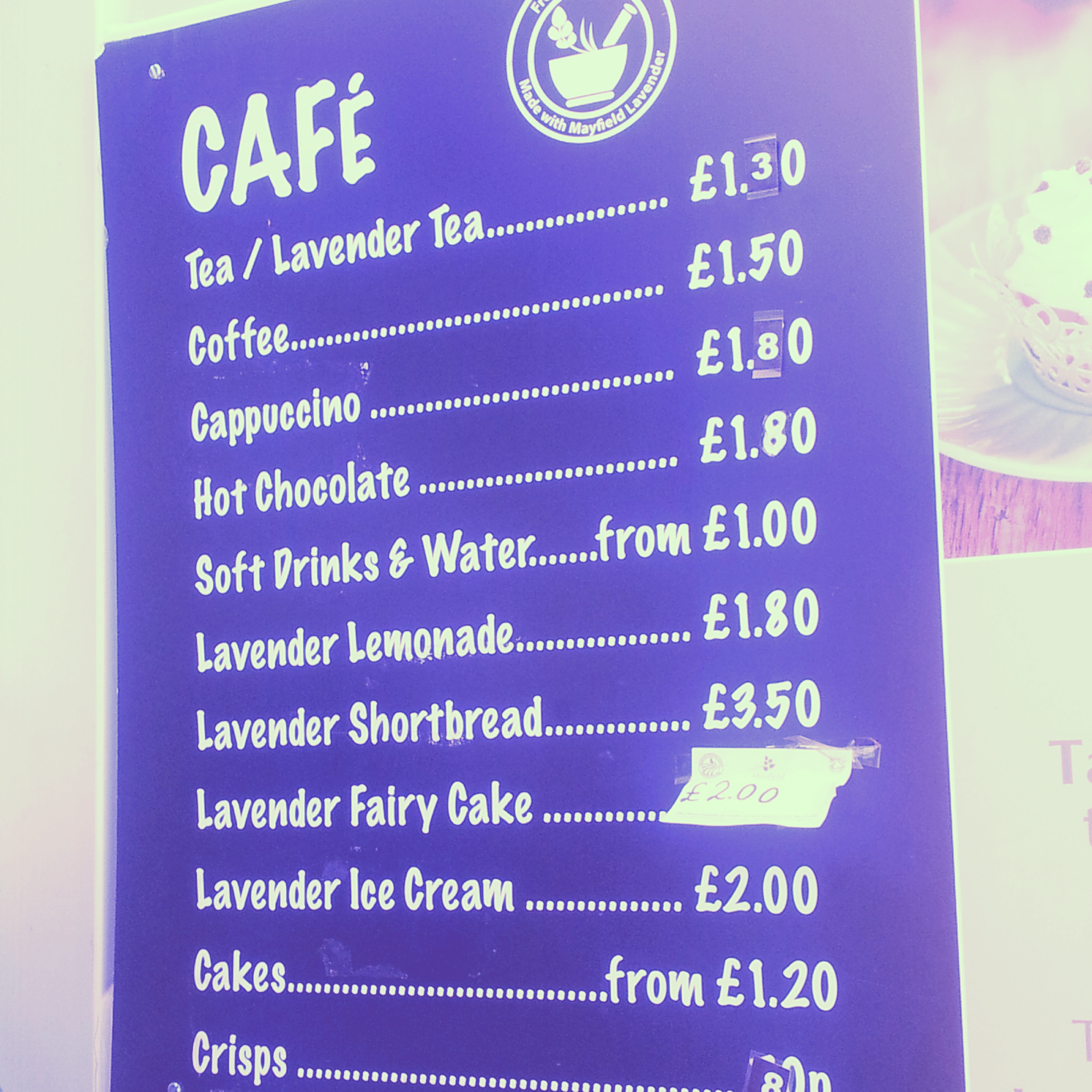 mayfield lavender fields cafe menu – why waste annual leave?
