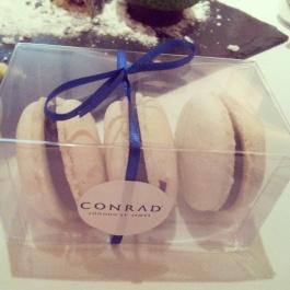 Conrad hotel macarons