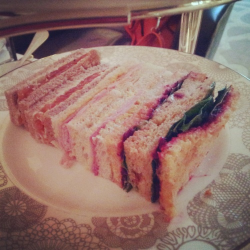 sandwich selection afternoon tea Conrad Hotel London