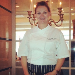 Pastry Chef Zoe chef Conrad Hotel London