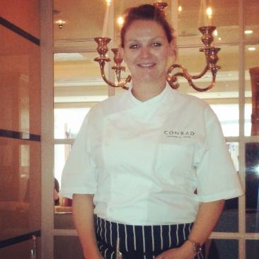 Pastry Chef Zoe chef Conrad Hotel London