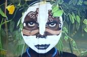 dark brown eyes street art