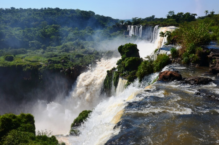 gushing waterfalls wildlife Iguassu